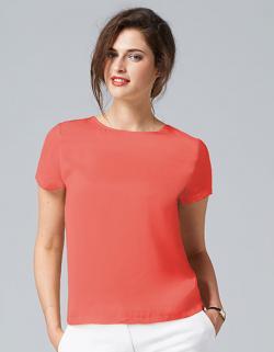 Damen Short Sleeve Moss Crepe Shirt Bridget