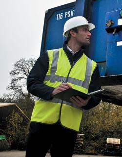 Herren Safety Hi-Viz Vest / nach ISOEN20471:2013