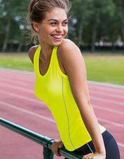 Damen Running Tank Top Rio / Kontrastierende Einsätze vorn