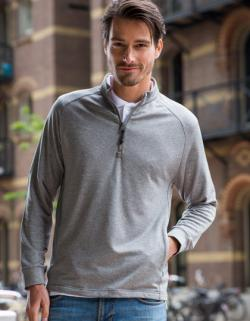 Herren Zip Top with Wicking Finish