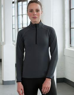Damen Cool 1/2 Zip Sweat / UV-Schutzfaktor 30