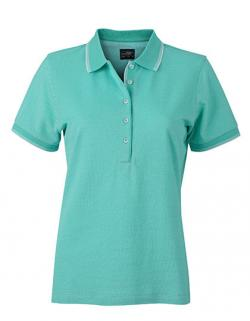 Damen Polo in trendiger Bicolor-Optik / Leicht tailliert