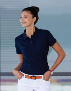 Damen Microfine-Piqué Polo Shirt /