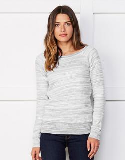Damen Sponge Fleece Wide Neck Sweatshirt
