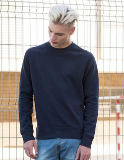 Herren Slim Fit Sweat / Innen angerautes Fleecematerial