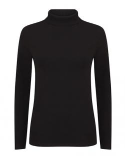 Damen Feel Good Roll Neck Top / Single-Jersey