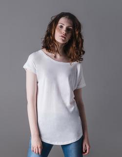 Damen Loose Fit T-shirt mit Flügelärmel