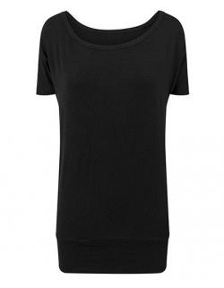 Damen Viscose Tee / Single-Jersey / Bündchen am Saum