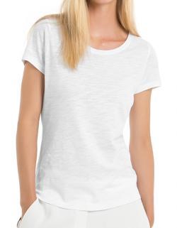 Damen T-Shirt / 100% SLUB Organic Cotton TEE mit Rundhals