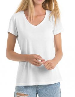 Damen V-Neck Triblend T-Shirt