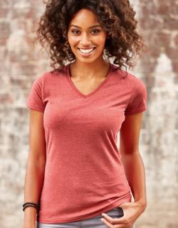 Damen T-Shirt mit V-Ausschnitt / Oeko-Tex® Standard 100
