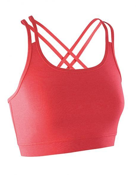 Damen Fitness  Crop Top / Gekreuzte Träger im Rücken