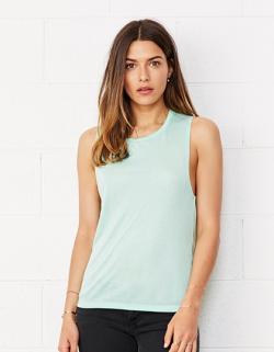 Damen Flowy Scoop Muscle T-Shirt / Leichter lässiger Schnitt