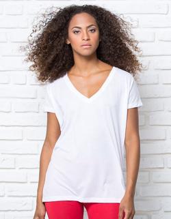 Damen Oversize T-Shirt / V-Ausschnitt
