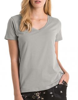 Damen V-Neck T-Shirt / 100% Organic Cotton
