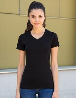 Damen Feel Good Stretch V-Neck T / weiches Tragegefühl