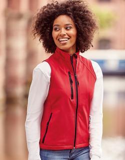 Damen Soft Shell-Gilet / Winddicht und wasserabweisend