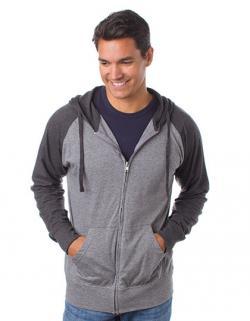 Herren Lightweight Jersey Raglan Zip Hood