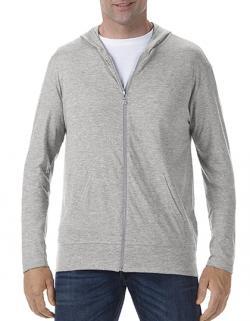 Herren Tri-Blend Full-Zip Hooded Jacket / Oeko-Tex 100®