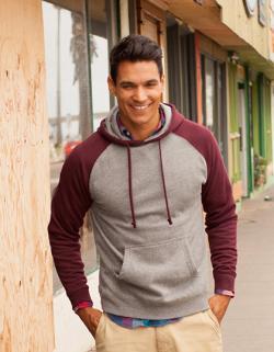 Herren Lightweight Raglan Hooded Pullover