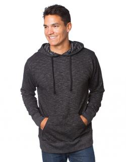 Herren Midweight Baja Stripe French Terry Hooded Pullover