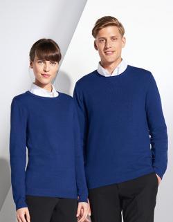 Herren Ginger Sweater / Ripp an Saum und Ärmeln