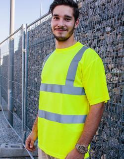 Herren Hi-Viz Workwear Arbeits T-Shirt EN ISO 20471