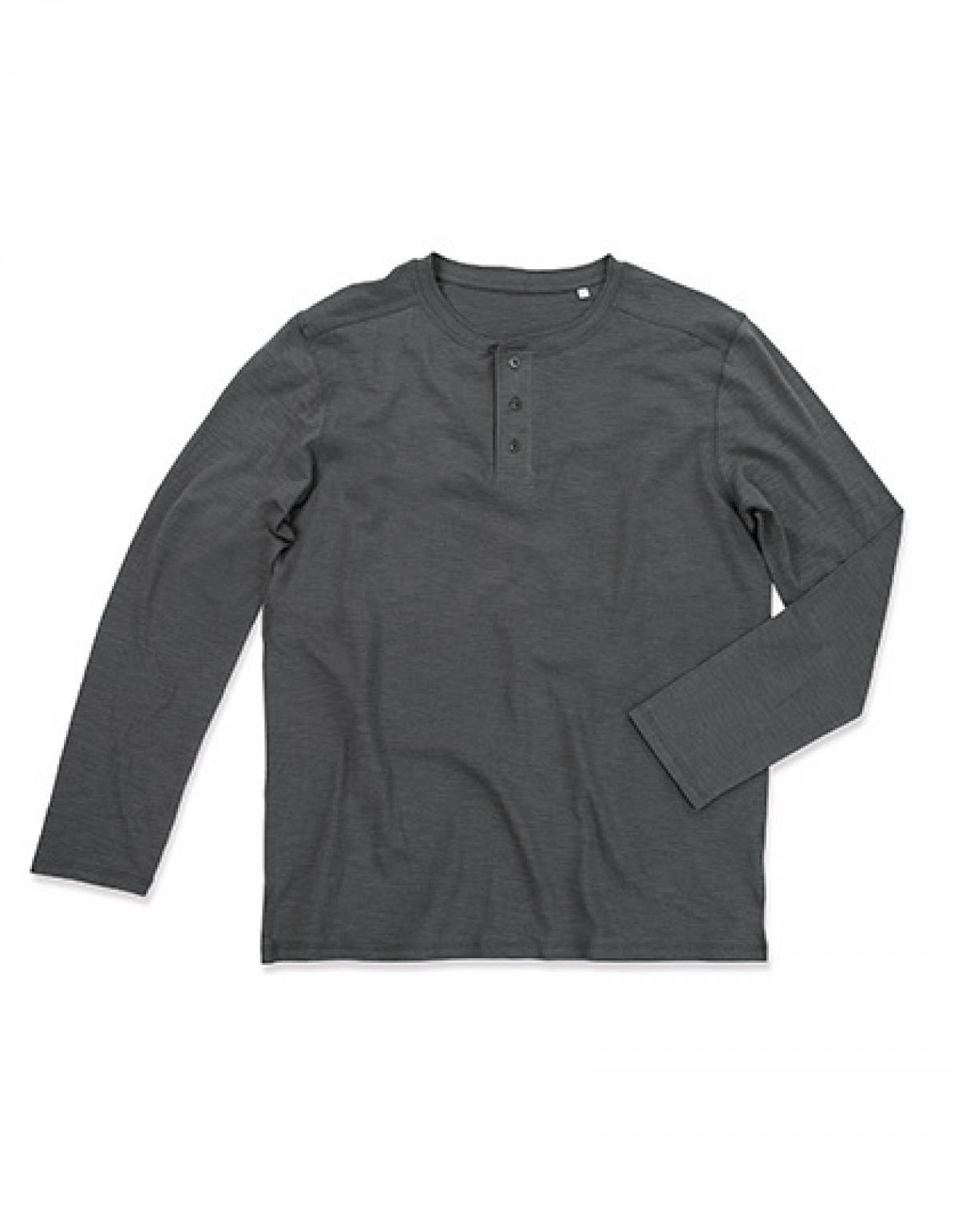 herren shawn long sleeve henley t shirt waschbar bei 40. Black Bedroom Furniture Sets. Home Design Ideas