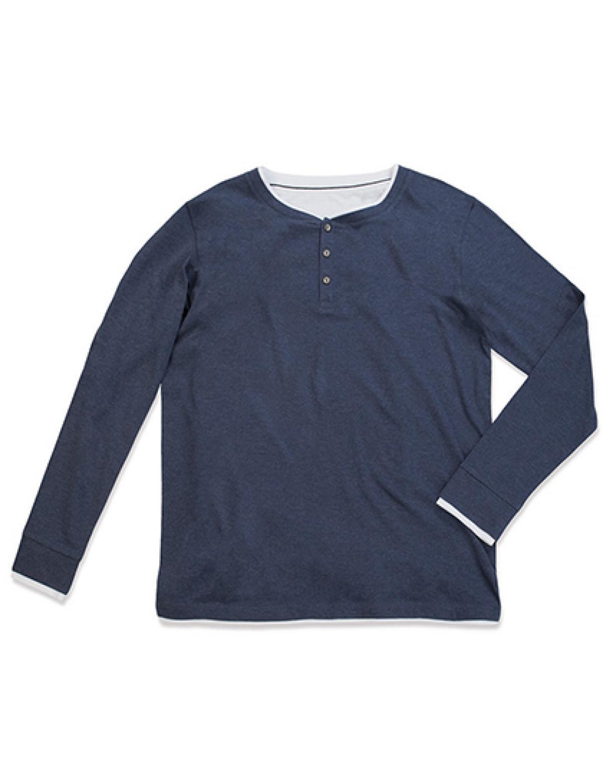 herren luke long sleeve henley t shirt waschbar bei 40. Black Bedroom Furniture Sets. Home Design Ideas