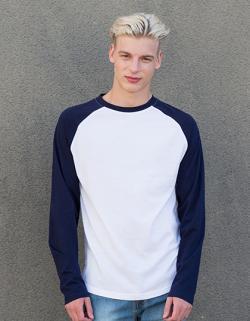 Herren Long Sleeved Baseball T / Lang geschnitten