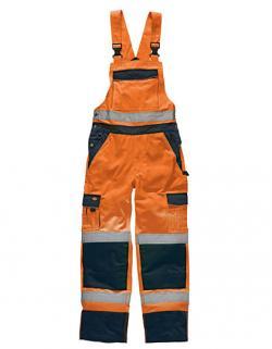Herren Industry Warnschutz Latzhose EN20471