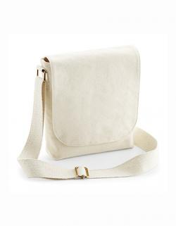 Fairtrade Cotton Canvas Mini Messenger / 17 x 23 x 7 cm