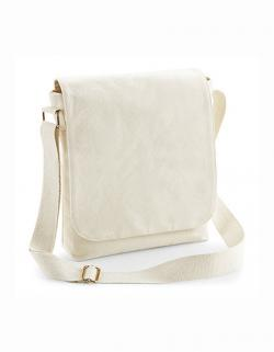 Fairtrade Baumwolle Canvas Midi Messenger / 23 x 28 x 7 cm