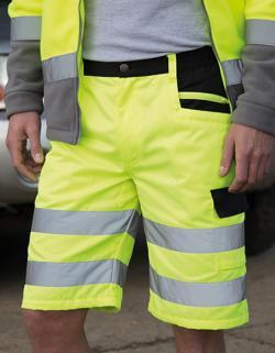 Safety Cargo Shorts - Kurze Arbeitshose nach EN20471:2013 K