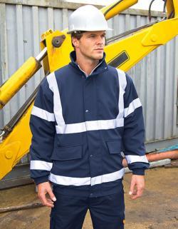 Herren Arbeitsjacke Result Safety Padded Softshell Blouson