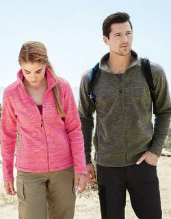 Damen Active Melange Fleece Jacket / Oeko-Tex Standard 100
