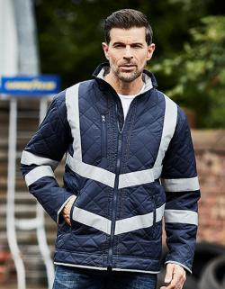 Herren Hi Vis Kensington Arbeitsjacke (with Fleece Lining)