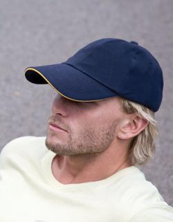 Herren Heavy Brushed Cotton Cap / Messingschnalle