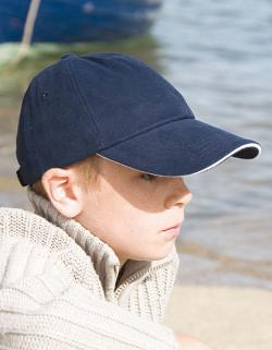 Kinder Heavy Brushed Cotton Cap / Messingschnalle