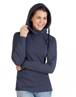 Damen Sweatshirt Heather Hoody 60/40 / Figurbetont