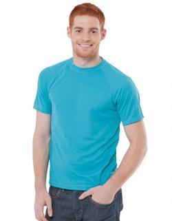 Herren Sport T-Shirt / Feiner Ripp-Kragen mit Lycra