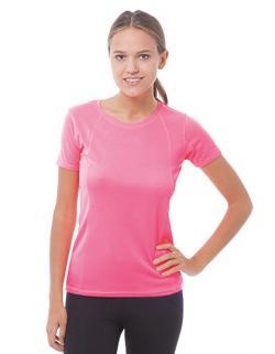 Damen Sport T-Shirt / Dekorative Nähte