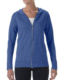 Damen Tri-Blend Full-Zip Hooded Jacket / Oeko-Tex 100®