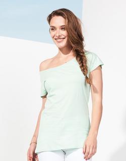 Damen T-Shirt Marylin / Weiter Halsausschnitt