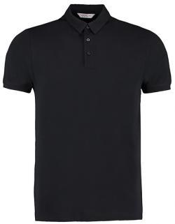 Herren Bar Polo Shirt / Polohemd aus Jersey-Strick