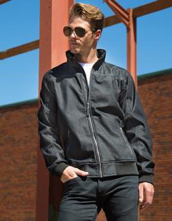 Herren Denim Softshell Jacket / wasserdicht