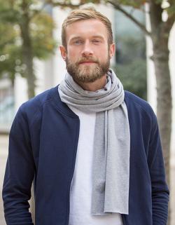 Herren Schal Scarf / 100 % Fairtrade Baumwolle / 180 x 40 cm