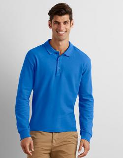Herren Premium Cotton® Long Sleeve Double Piqué Polo