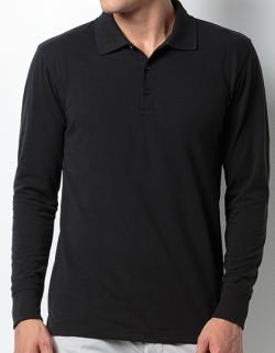 Herren Piqué Polo Shirt Long Sleeve