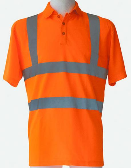 Herren Hi-Viz Arbeits Polo Shirt Basic EN ISO 20471